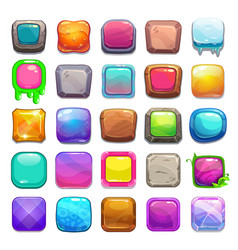 Big set of cartoon square buttons vector image vector image