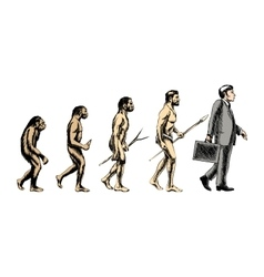 Businessman evolution vector image