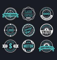 circle vintage and retro badge design vector image vector image