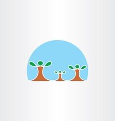 family tree icon symbol vector image