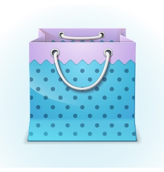 Gift shopping bag vector image