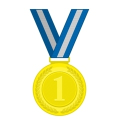 Gold medal first place vector image