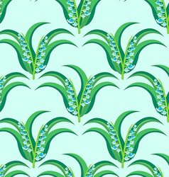 may-lily seamless pattern vector image vector image