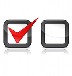 red checkmark vector image vector image