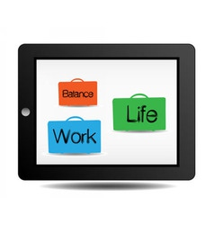 work and life vector image vector image