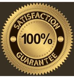 100 percent satisfaction guarantee vector image