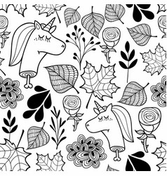 black and white wallpaper with dead unicorns for vector image