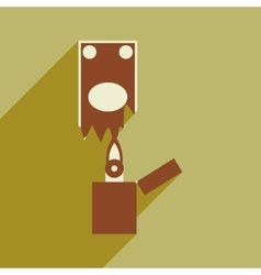 Modern flat icon with shadow money to burn vector