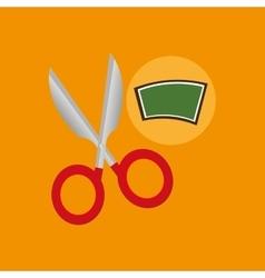 School board icon scissors design vector