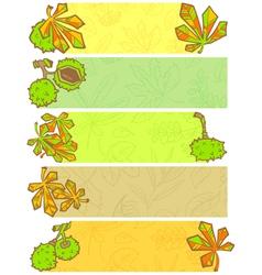 season banners vector image vector image