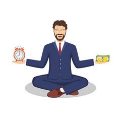 businessman found his balance vector image