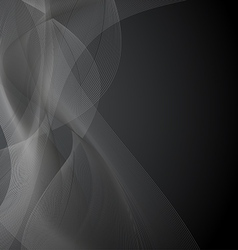 Dark Gray Background with Waves vector image vector image
