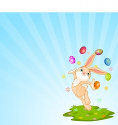 juggling bunny vector image vector image