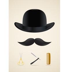 Moustache style icons set vector image