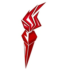 Red stylized torch vector image vector image