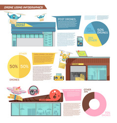 using drone infographics vector image vector image