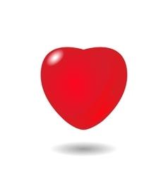 volumetric red heart vector image