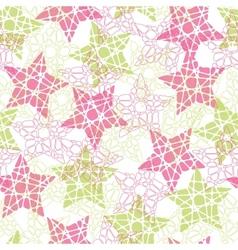 Abstract mosaic star texture vector image vector image