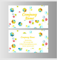 cards with different gift box vector image