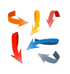 Colorful Abstract Arrows Set vector image