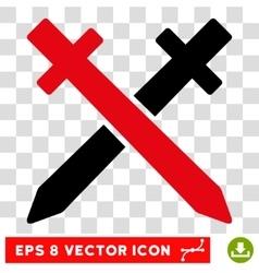 Crossing swords eps icon vector
