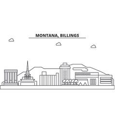 montana billings architecture line skyline vector image
