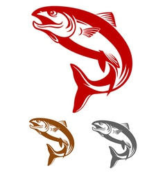 salmon fish mascot vector image