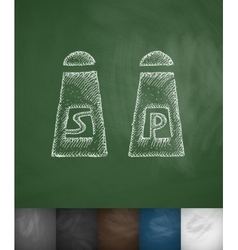 salt and pepper icon Hand drawn vector image vector image
