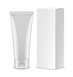 white tube mockup vector image vector image