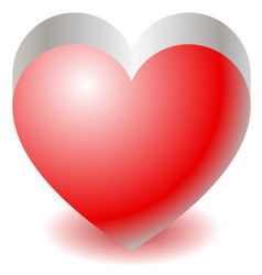 3d red heart shape love affection valentines day vector