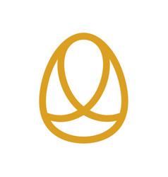 Abstract egg logo icon design template line art vector