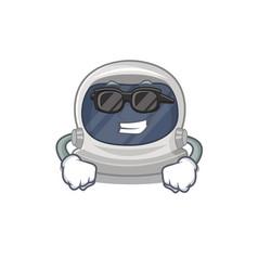 Astronaut helmet wearing expensive black glasses vector