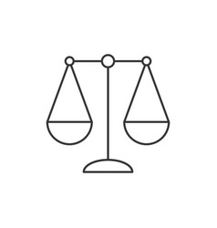 balance icon for libra zodiac sign or justice in s vector image