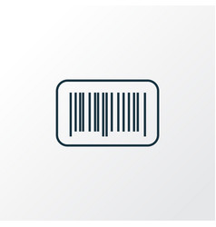 Barcode icon line symbol premium quality isolated vector