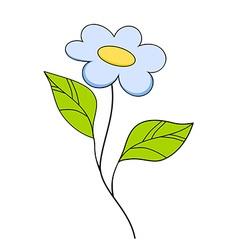 Beautiful smiling flower Floral Design Element vector