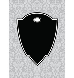 black pointed frame and background vector image