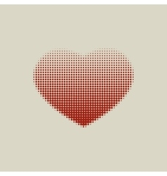 Brown heart painted with dots vector image