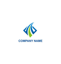 Business finance company logo vector