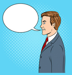 businessman pop art vector image