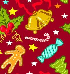 Cartoon Christmas seamless pattern vector