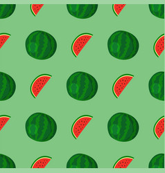 cartoon fresh watermelon fruits in flat style vector image