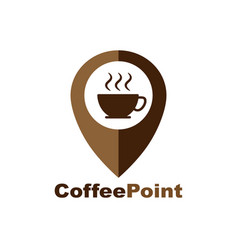 Coffee cup house cafe logo design pointer and a vector