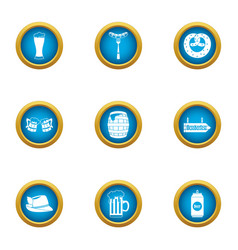 creamy biscuit icons set flat style vector image