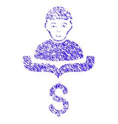 Customer sales funnel icon grunge watermark vector