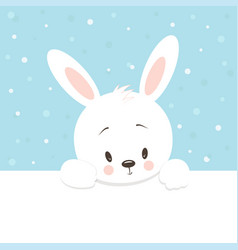 Cute little cartoon hare vector