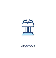Diplomacy concept 2 colored icon simple line vector