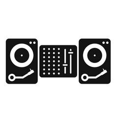 Dj console icon simple style vector