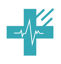 Donor mark medical cross web icon clinic vector