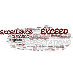 exceed word cloud concept vector image