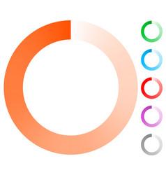 Fading circle preloader progress indicator vector